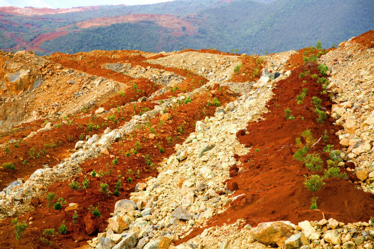 Mining revegetation after exploitation in New-Caledonia (SNL - ERAMET group) © ERAMET