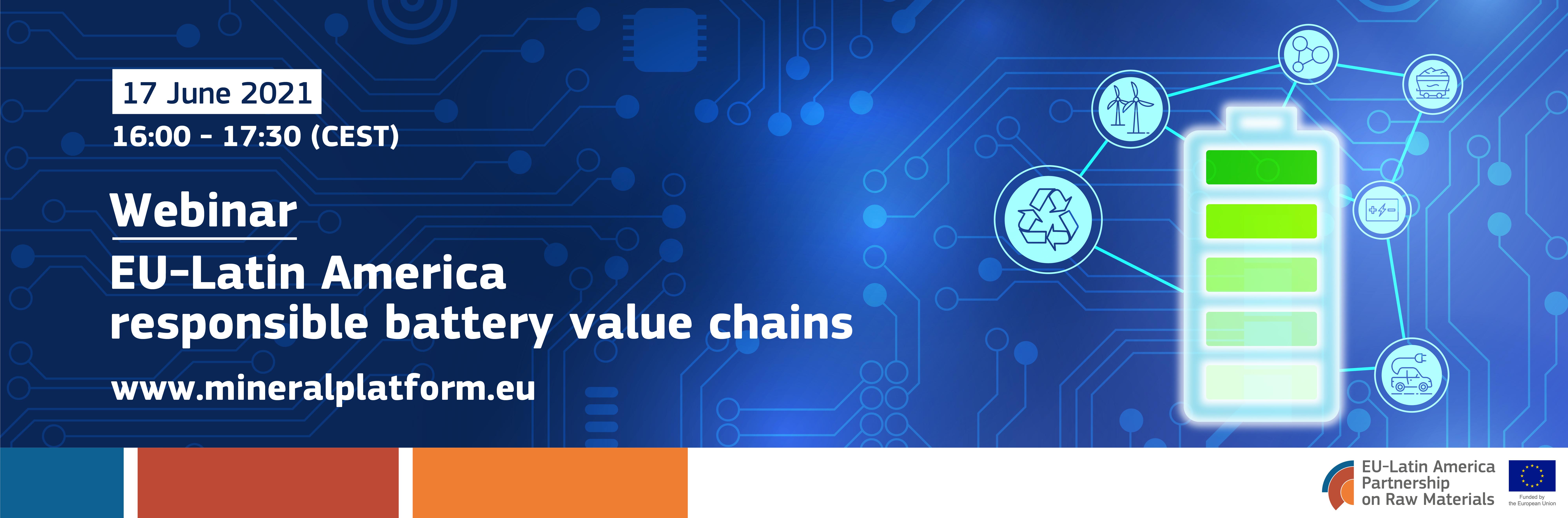 The MDNP webinar series: EU-Latin America responsible battery value chains